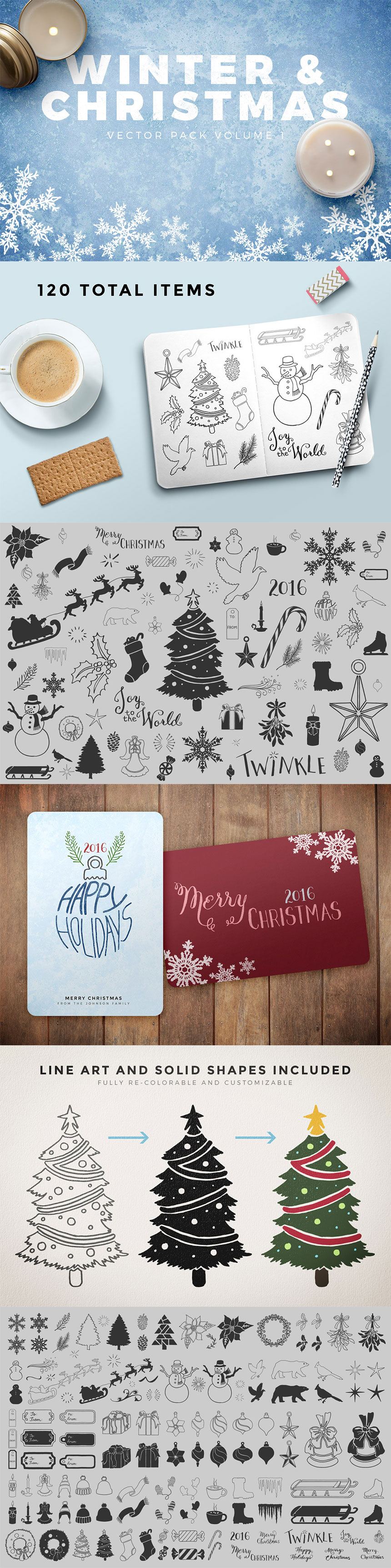 Thousand of fall and winter design resources to last your through Christmas :)