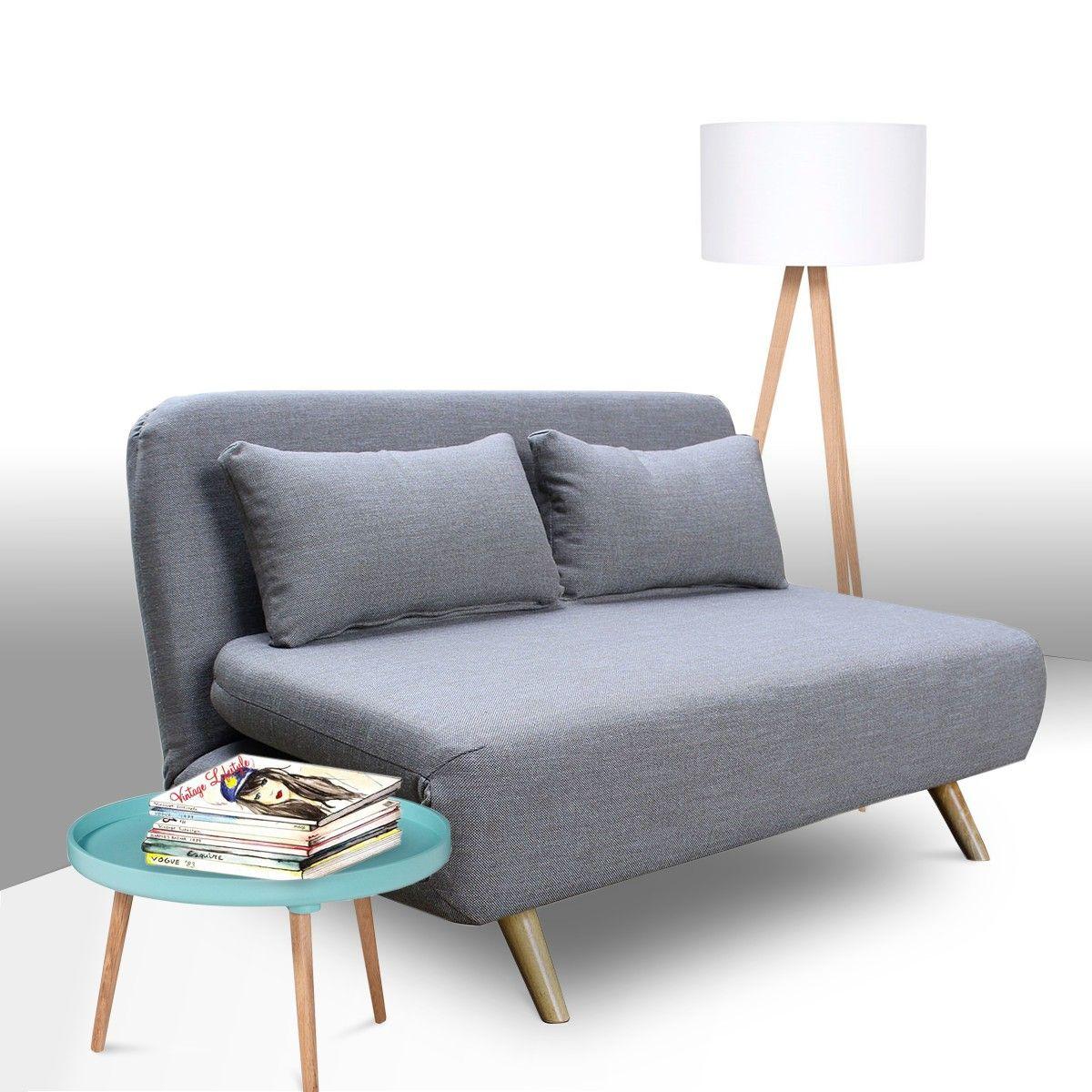 Canapé Design Scandinave Clic Clac 2 Places John Petit Canapé Pour Chambre,  Canapé Convertible Ikea