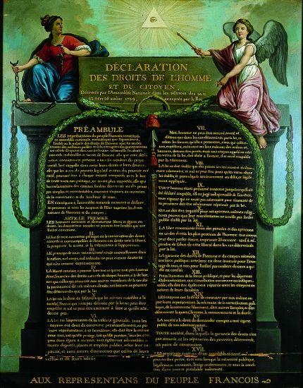 Declaration Des Droits De L Homme Et Du Citoyen Tableau Representant La Declaration Des Droits De Droits De L Homme Citoyen Declaration Des Droits De L Homme