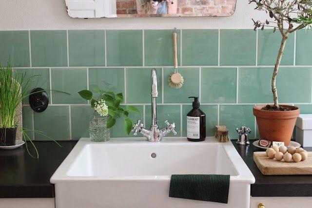 La Cocina De Los Azulejos Verde Agua Cocinas Rusticas Decoracion De Estilo Rustico Banos Para Ninas