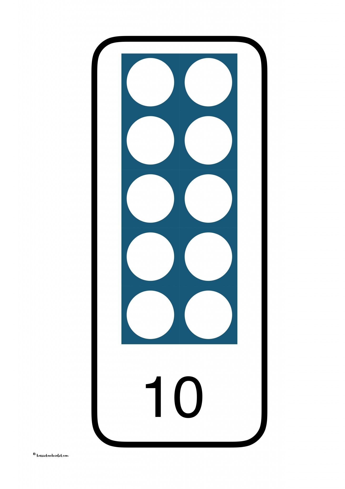 Numicon style image and digits 0-10 - Free Teaching Resources ...