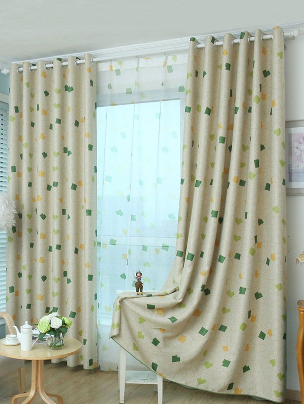 Rosegal Modern Home Furniture Woman Bedroom Curtains Living Room