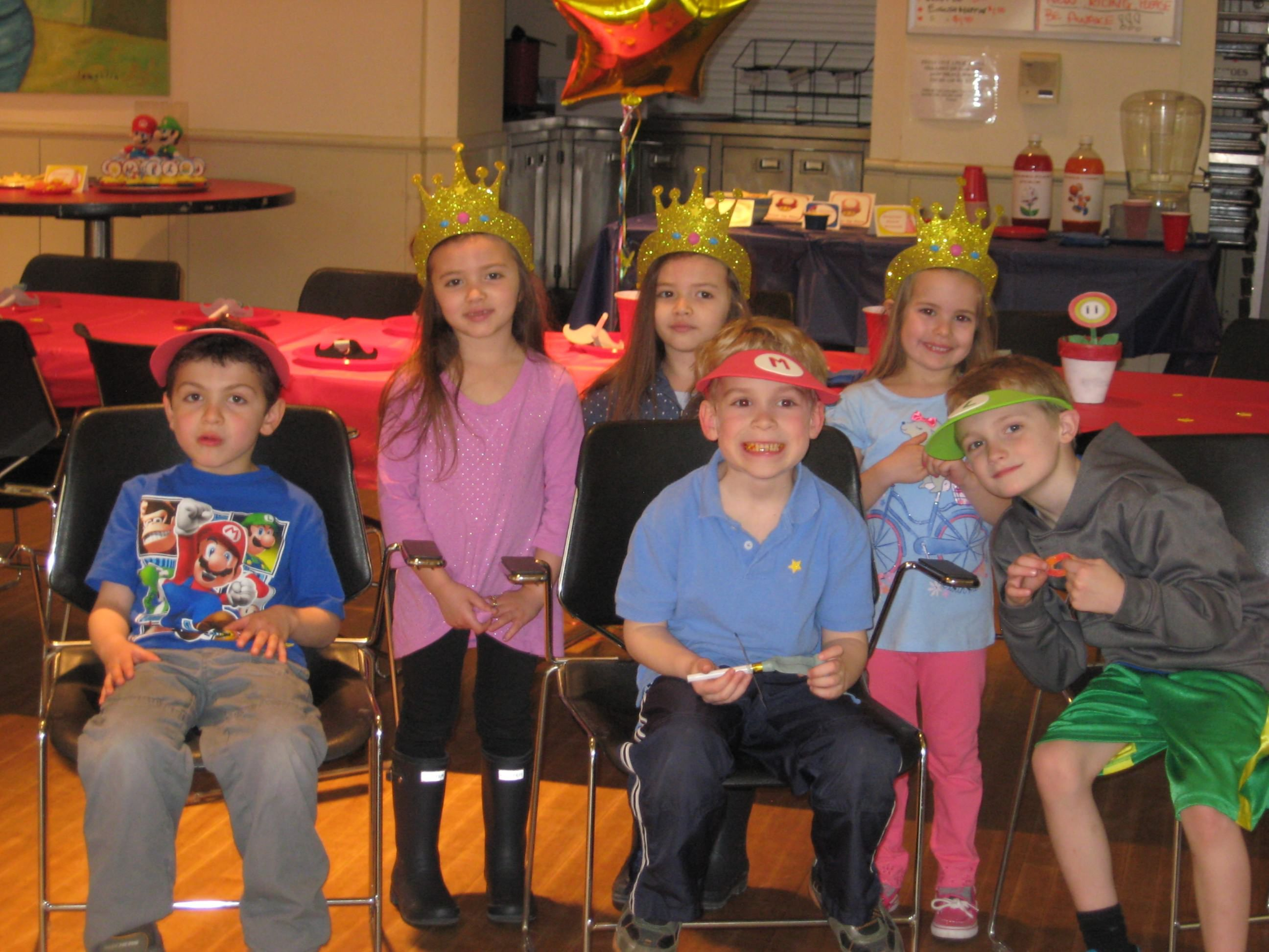 Mario and Luigi hats and Princess Peach crowns - They were a hit! See other 70ce368fe1a3