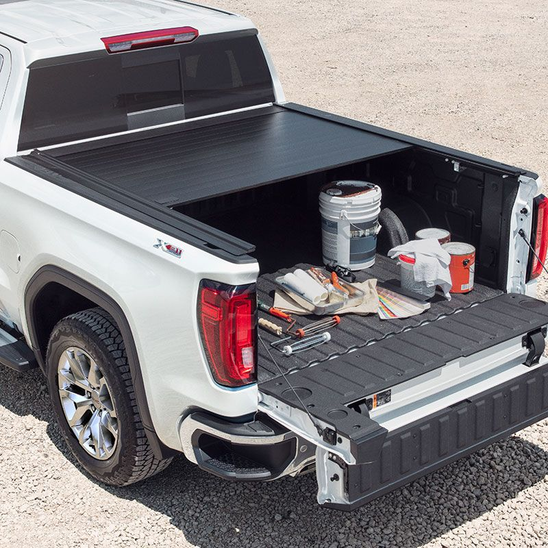 2019 Sierra 1500 Tonneau Cover Retractable Black Short Bed