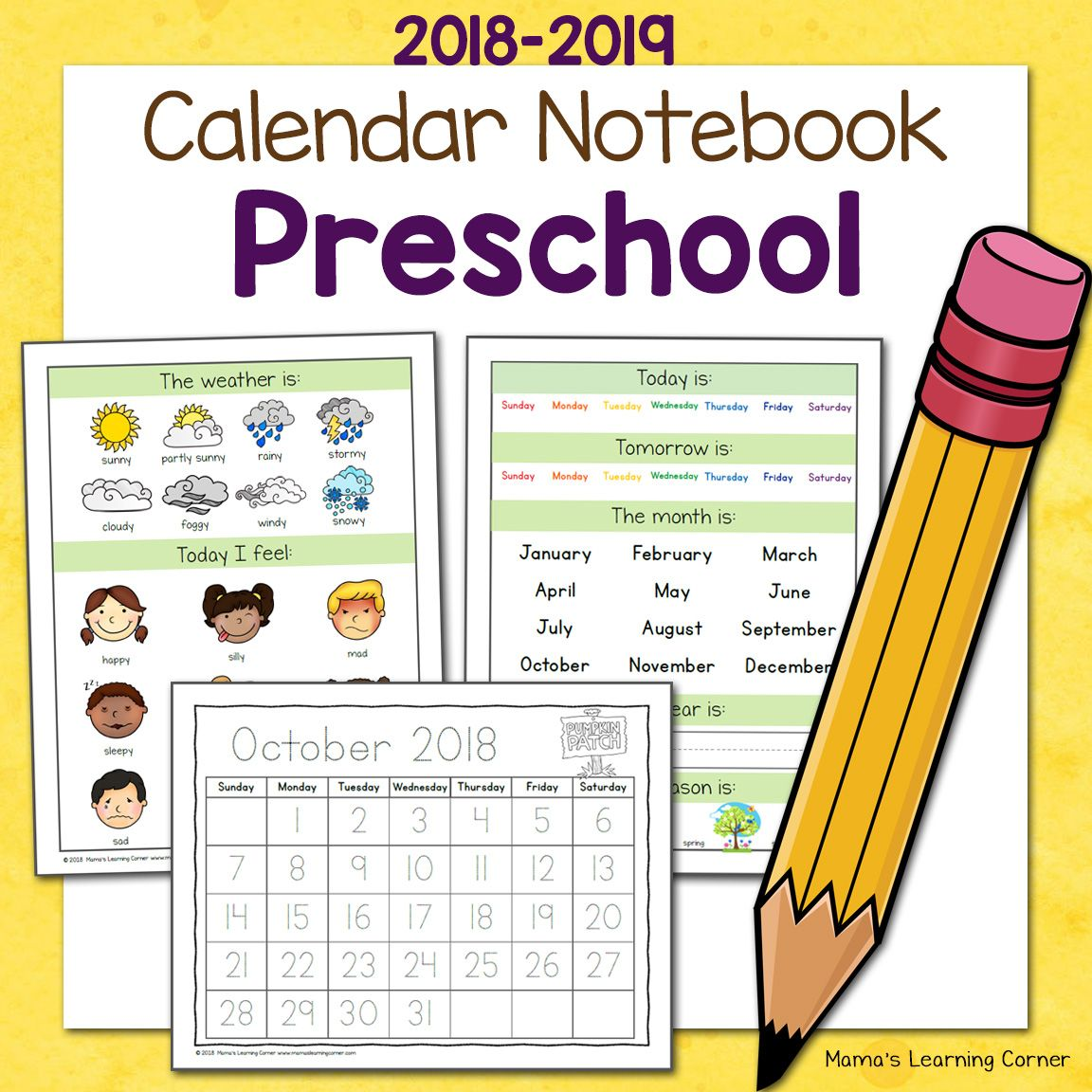 Preschool Calendar Notebook