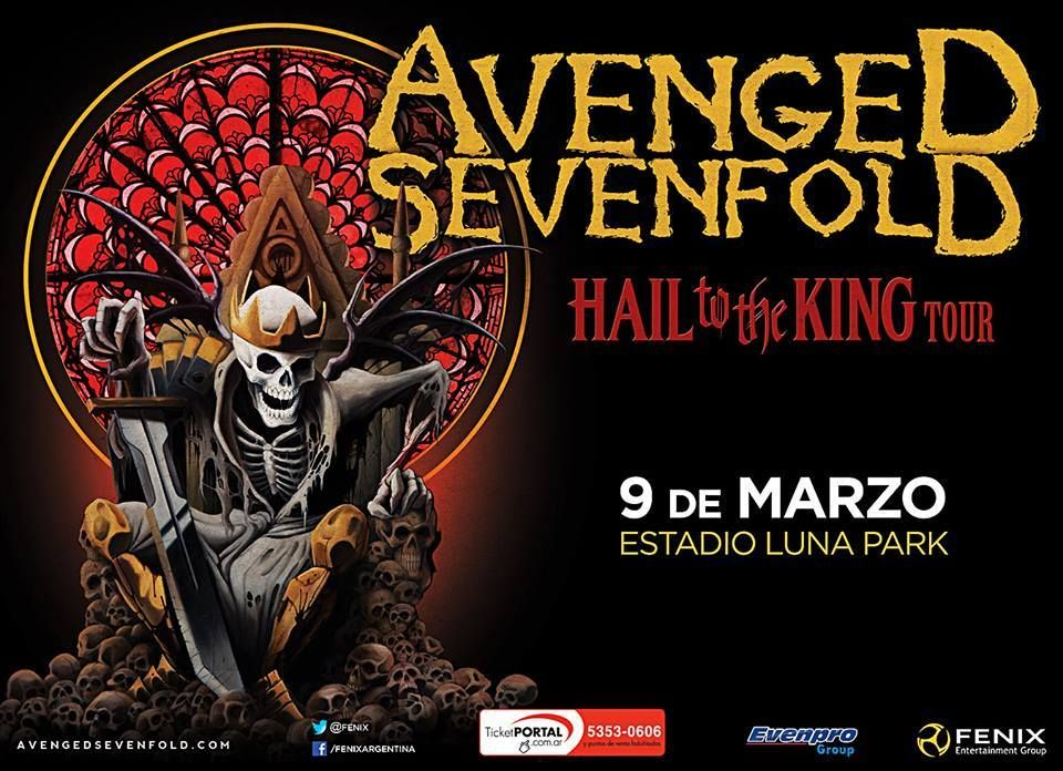 Avenged Sevenfold el 9 de Marzo en Argentina