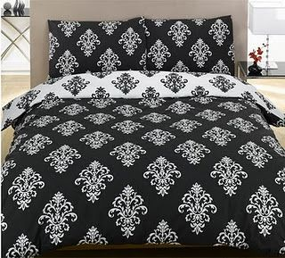 Black And White Damask Bedding