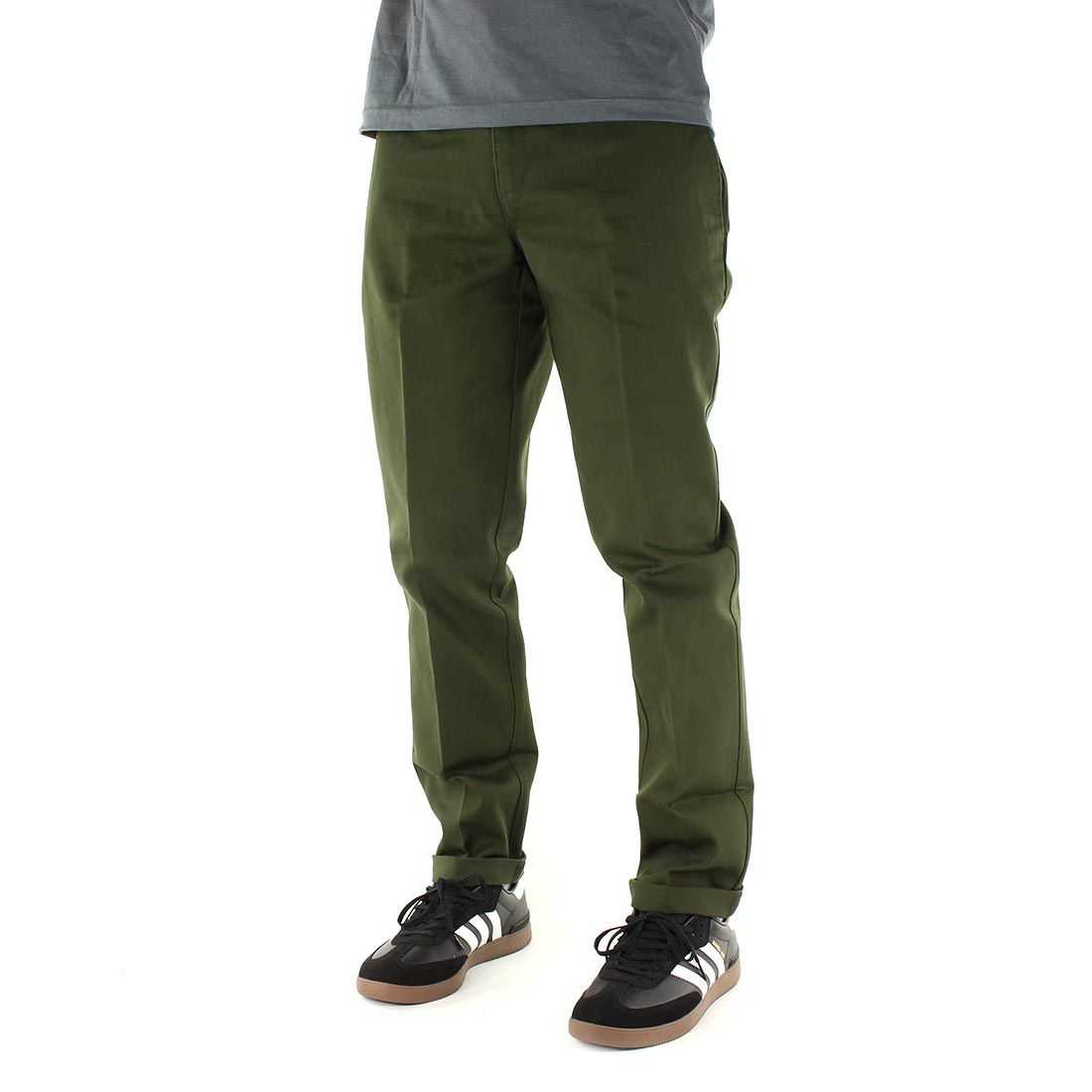 Dickies 872 slim fit work pant olive green with images