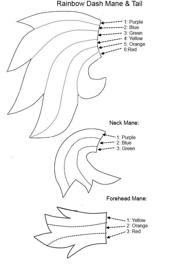 Rainbow Dash Mane Tail Pattern by Special-Measures.deviantart.com on ...