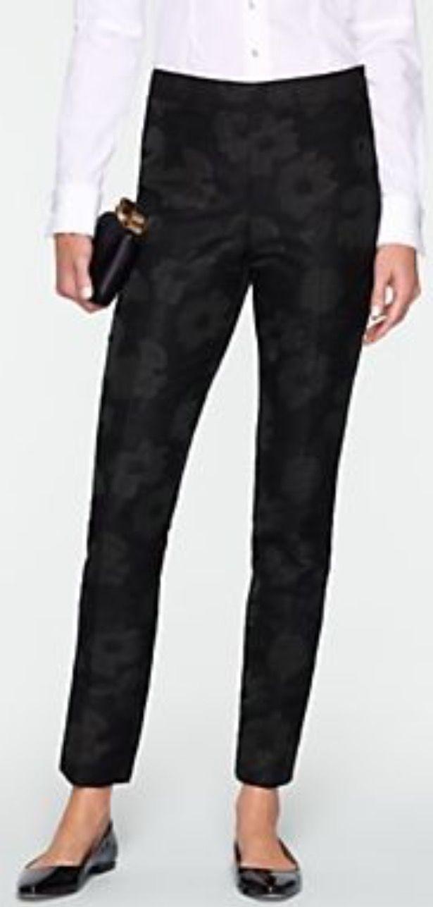 ab0ae23df2 Talbots - Heritage Sparkle Jacquard Ankle Pants - Black