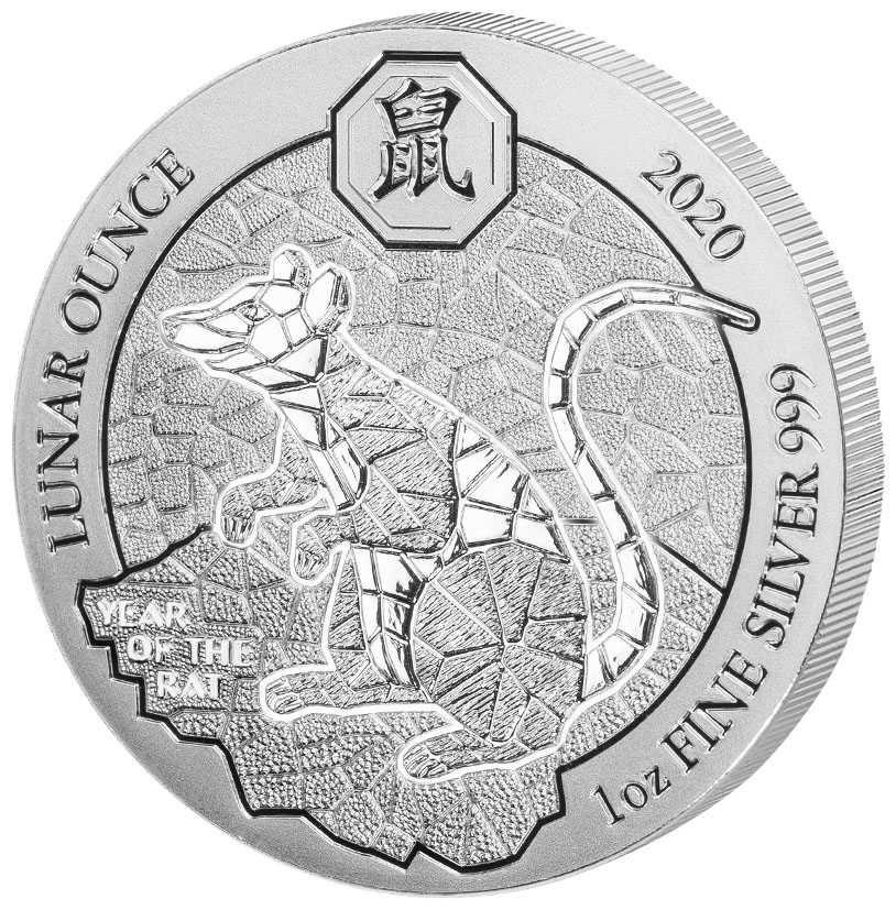 2020 1 Oz Rwanda Lunar Year Of Rat Silver Coin In 2020 Silver Coins Coins Silver Bullion