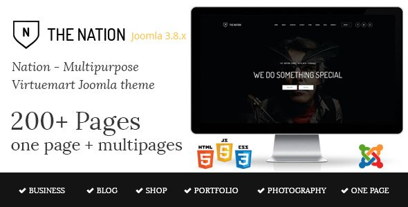 Nation - Multipurpose Virtuemart Joomla Template  ⠀  The Nation is fully featured with one & multi-page Joomla template. The nation is very simple, minimal design and u can build whatever you like with this template. Be a Business, Portfolio, Web...  ⠀  #columns4 #ecommerce #joomla #joomlabuff #k2blog #parallax #themeforest #virtuemart #agency #business #corporate #creative #minimal #multipurpose #onepage #responsive #photography #clean