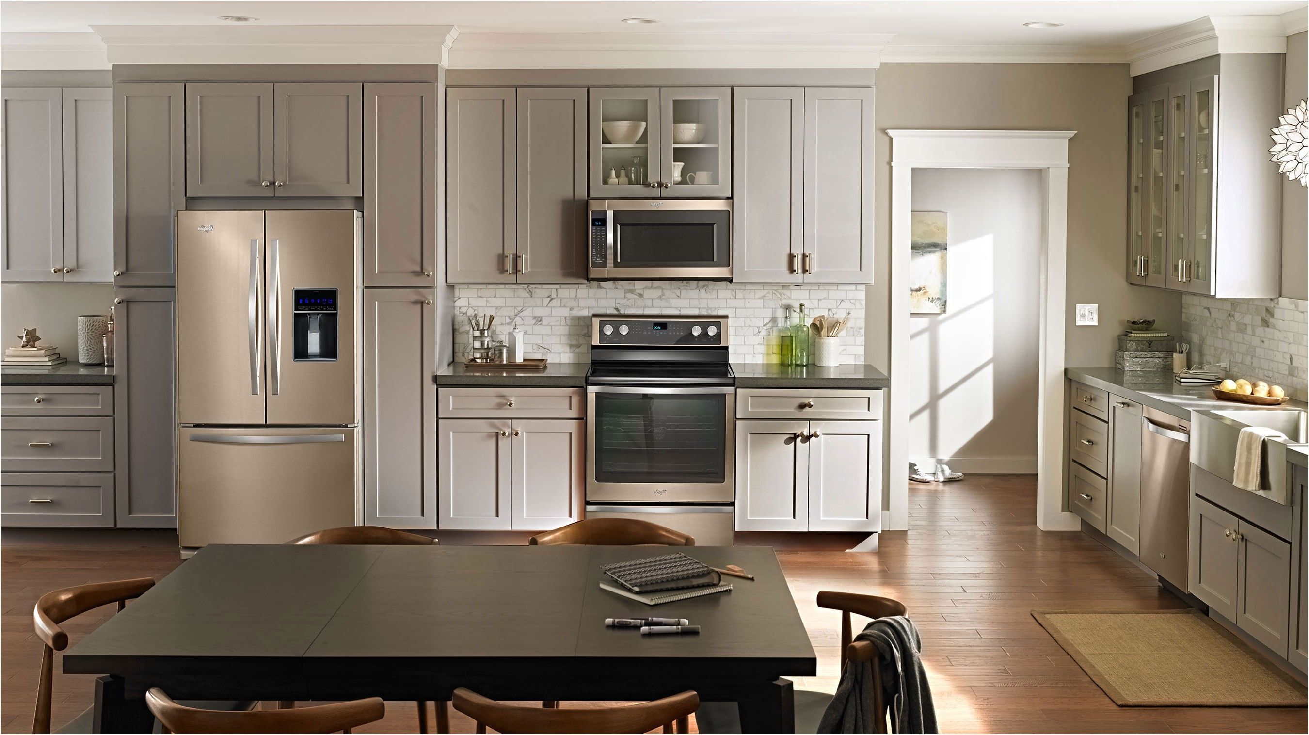 whirlpool sunset bronze the new stainless steel appliances