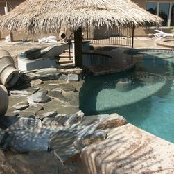 swimming pool mesmerizing natural combination lagoon swimming pool and bar with small gazebo for bar. beautiful ideas. Home Design Ideas