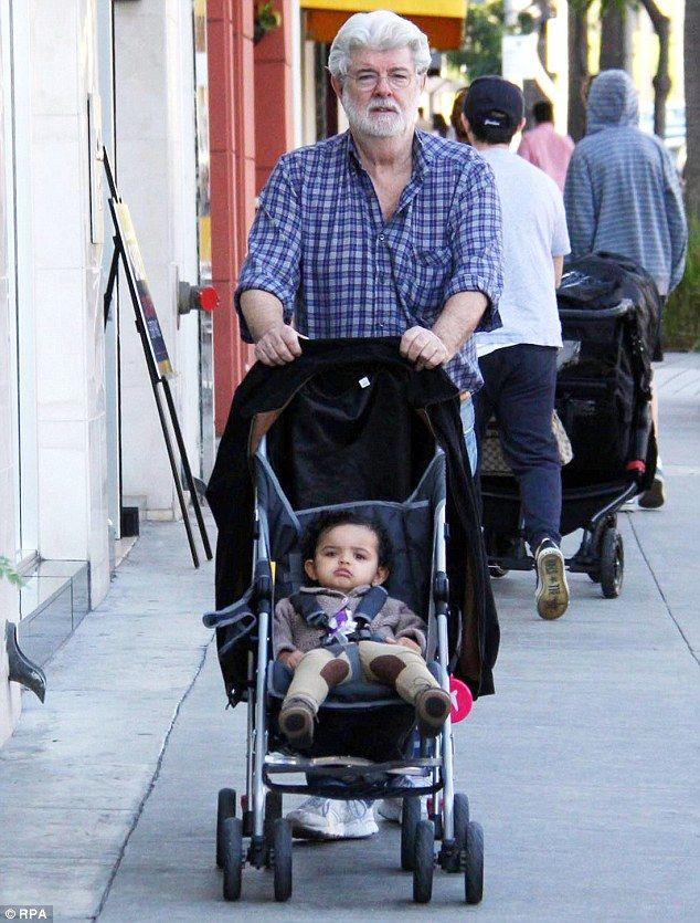 The new force in his life: George Lucas little girl  Everest