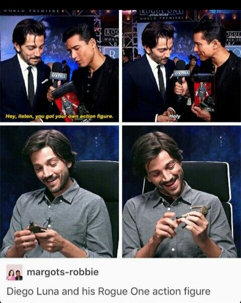 Diego Luna and his action figure  81480559c
