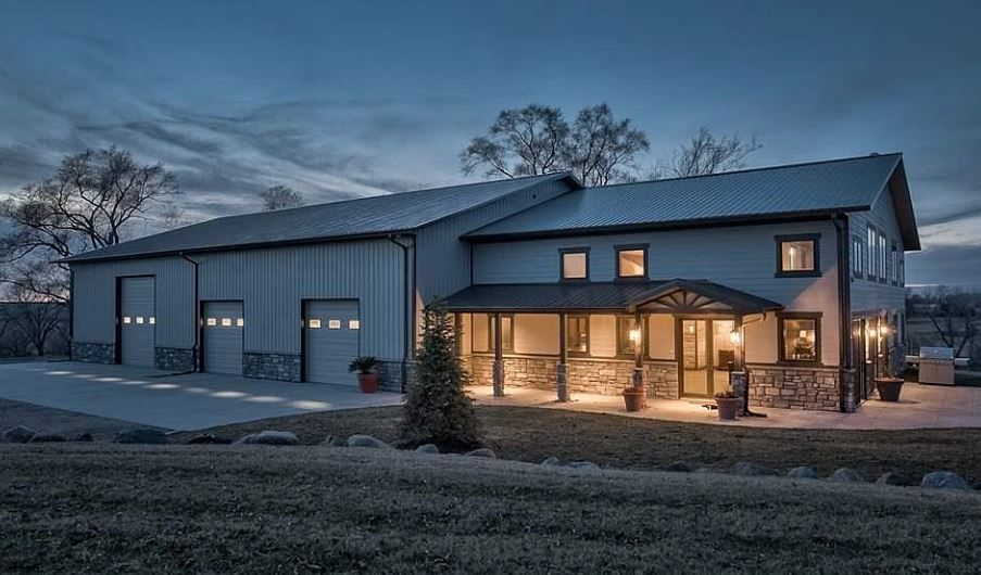 Custom Designed Barndominium With Over Sized Shop Steel Building Homes Metal House Plans Barn House Plans