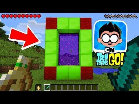 Minecraft How to Make a Portal to Bikini Bottom! (No Mods