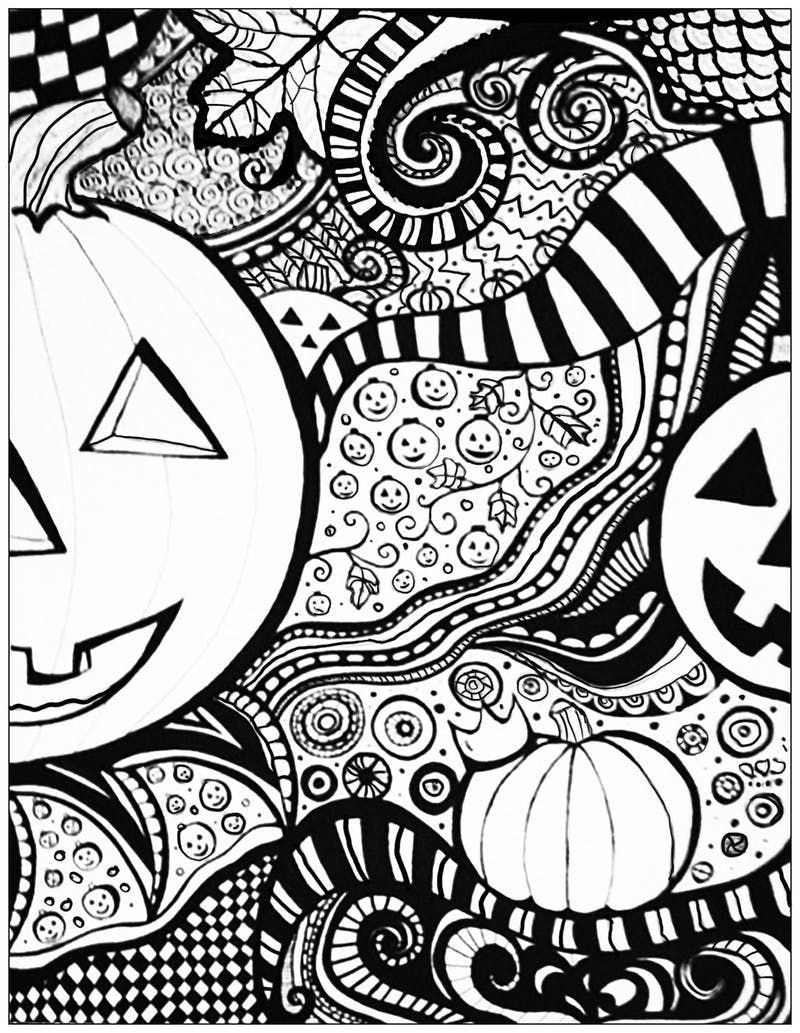 12 Halloween Coloring Page Printables To Keep Kids And Adults Busy Halloween Coloring Pages Printable Pumpkin Coloring Pages Halloween Coloring Pages