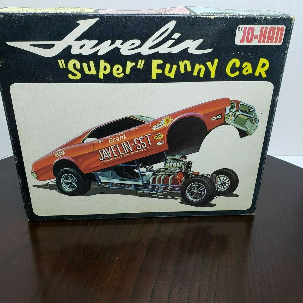 Jo Han 68 Amc Javelin Super Funny Car Model Kit Open Box No Decals Johan Plastic Model Kits Model Cars Kits Car Humor