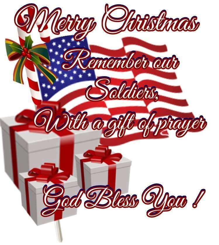 Merry Christmas to our soldiers Christmas greetings