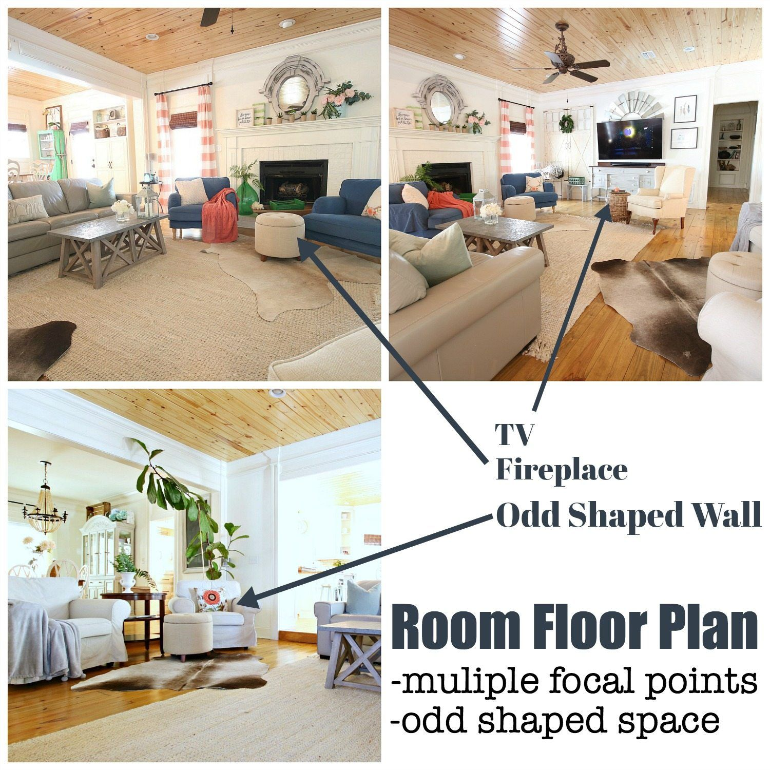 Open Floor Plan Unique Shape Refresh Restyle Room Flooring Floor Plans Flooring #oddly #shaped #living #room