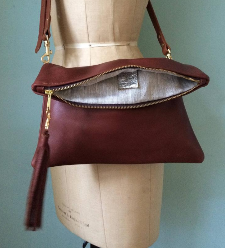 Leather clutch leather purse leather evening purse; evening bag; evening purse Brown leather clutch leather bag
