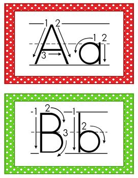 alphabet cards correct letter formation abc school theme alphabet tracing alphabet. Black Bedroom Furniture Sets. Home Design Ideas