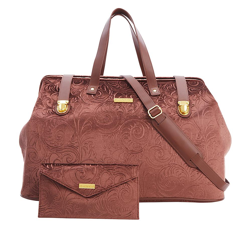 5de6fbf72012 JOY & IMAN Chic Vintage Brocade Carpet Bag w/ RFID Plus Clutch in ...