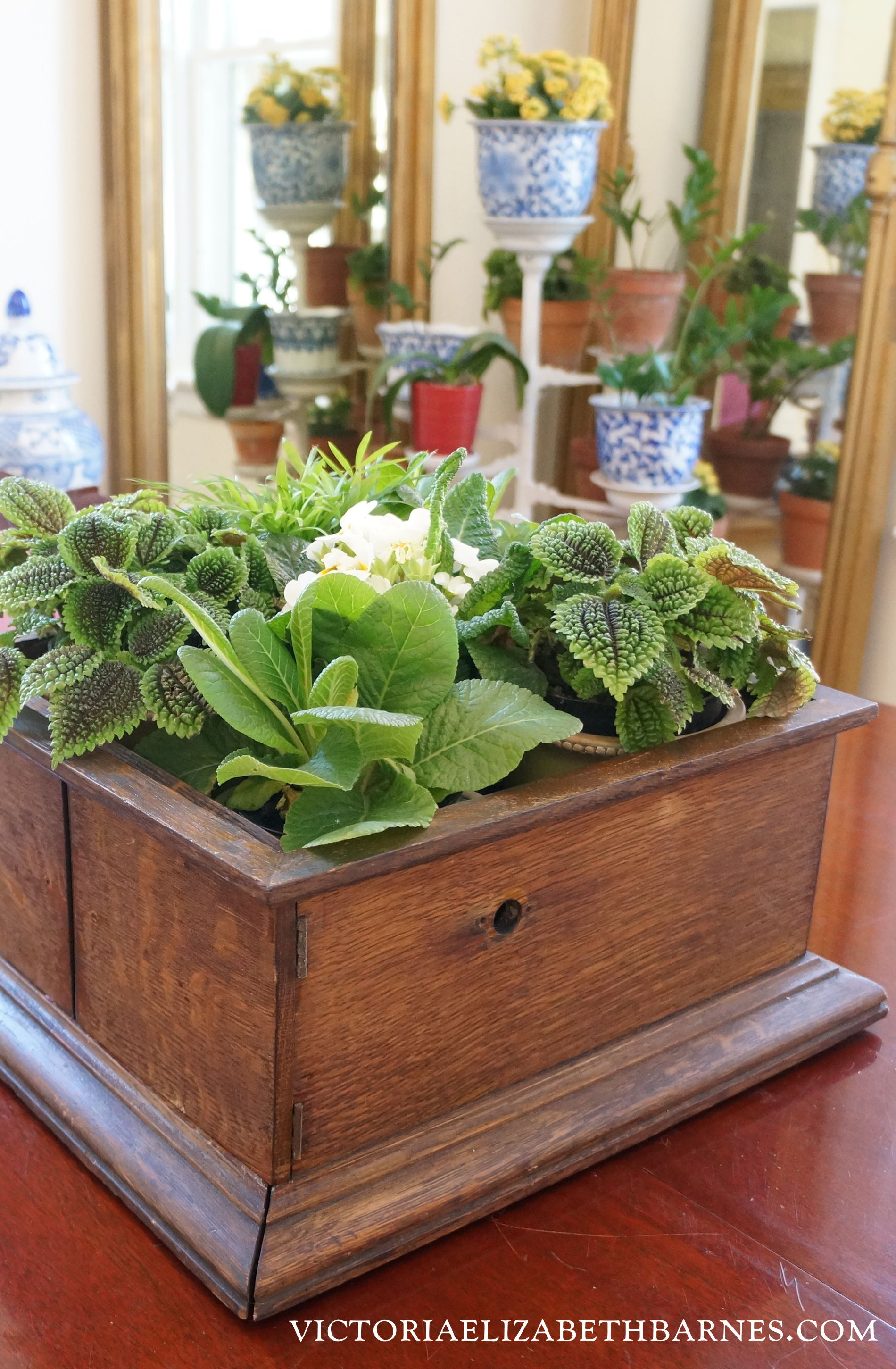 Before and After: upcycling yard sale junk; repurposed antique box ...