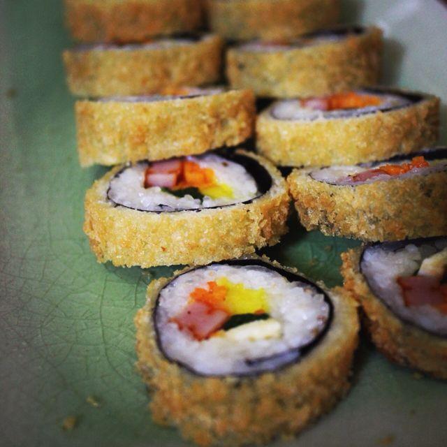 Fried kimbap