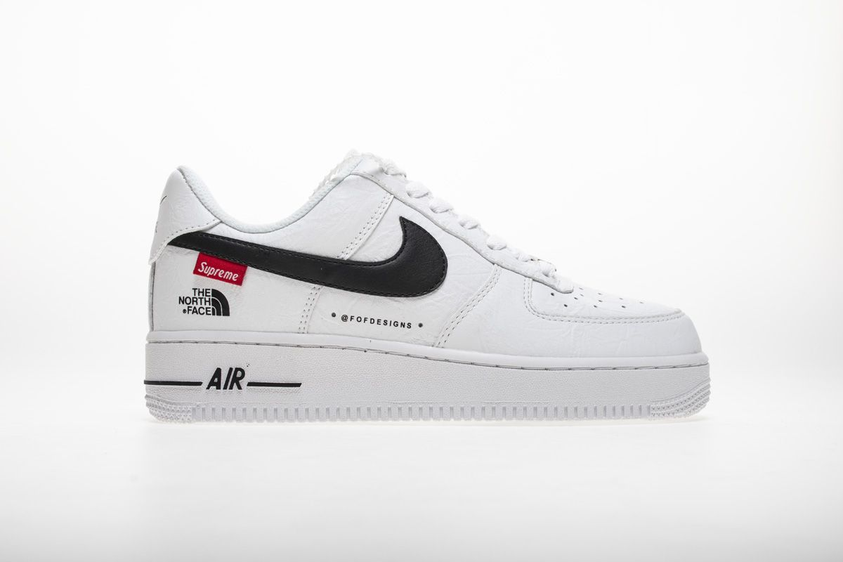 Supreme x The North Face x Nike Air Force 1 Low Pink Black AR3066 800