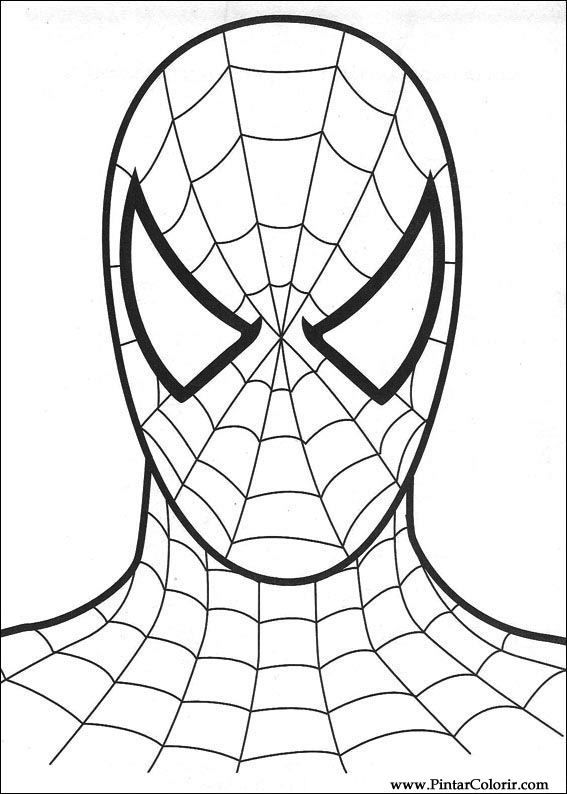 Drawings To Paint Colour Spiderman Spiderman Face Free