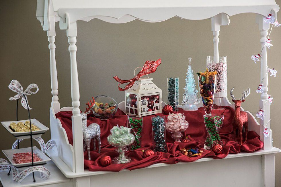 Post Christmas Party Ideas Part - 49: Christmas Candy Cart | Office Christmas Party Ideas | Blog Post From  Vintage Partyware | Wedding