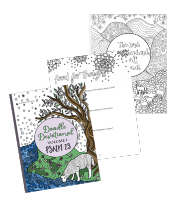 Free Printable Psalm 23 Doodle Devotional Coloring Pages Psalm 23