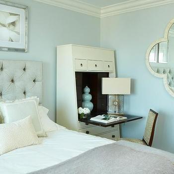 Secretary Desk As Nightstand Feature Wall Bedroom Secretary Desks Scandinavian Design Bedroom