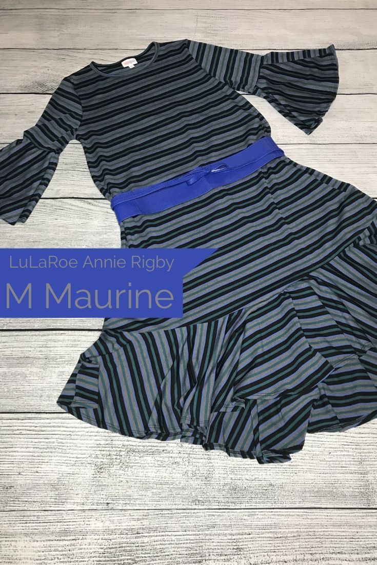 d8df4c432cd Flirty striped LuLaRoe Maurine Dress with bell sleeves and ruffle detail is  the perfect feminine touch for Date Night.  lularoemaurine  dress   ...
