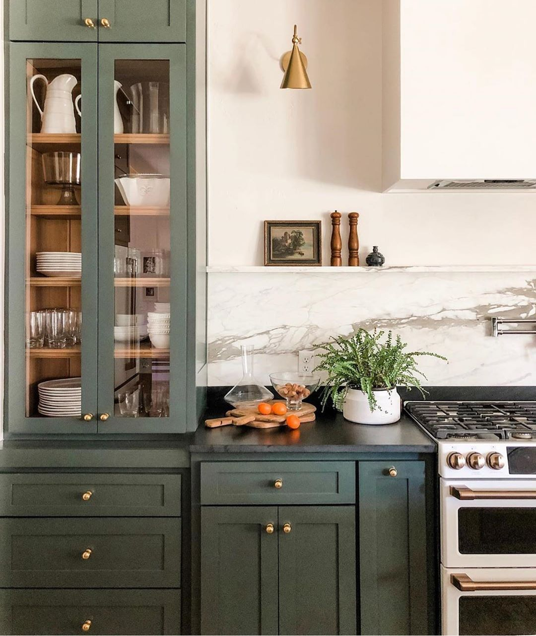 You Know We Love A Green Kitchen Here At Juniper Home But This Might Be The Best One Yet We Are V Green Kitchen Cabinets Diy Kitchen Remodel Kitchen Interior