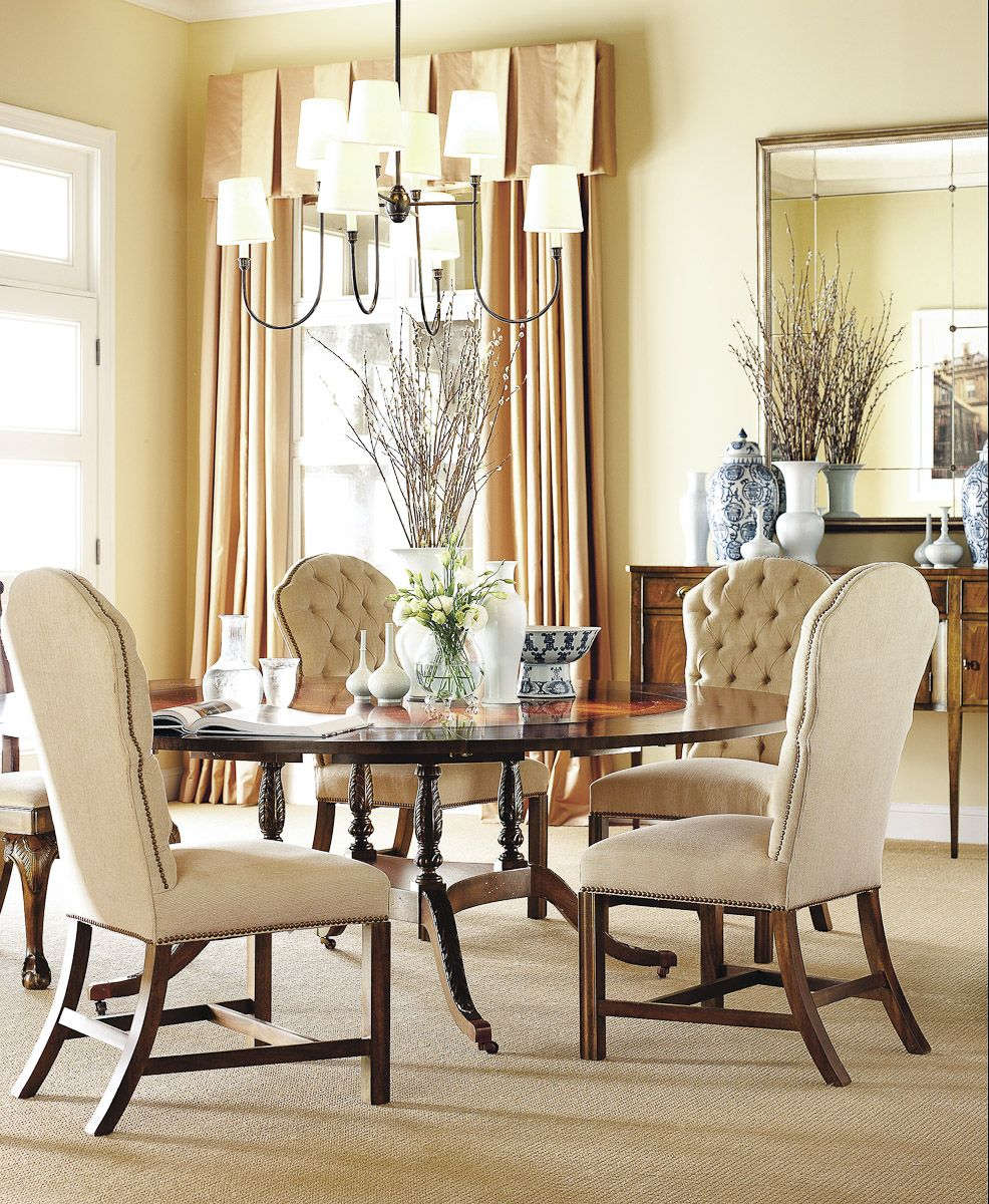 Hickory Chair Sheraton Table Dining room wall decor