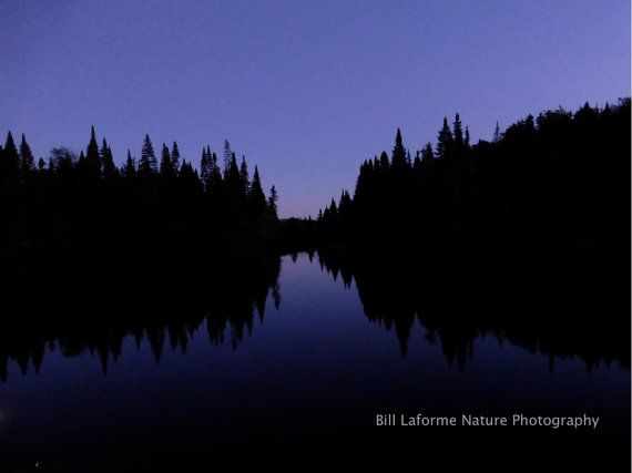 Twilight on the Androscoggin River, New Hampshire: Framed and matted 11x14 Photo