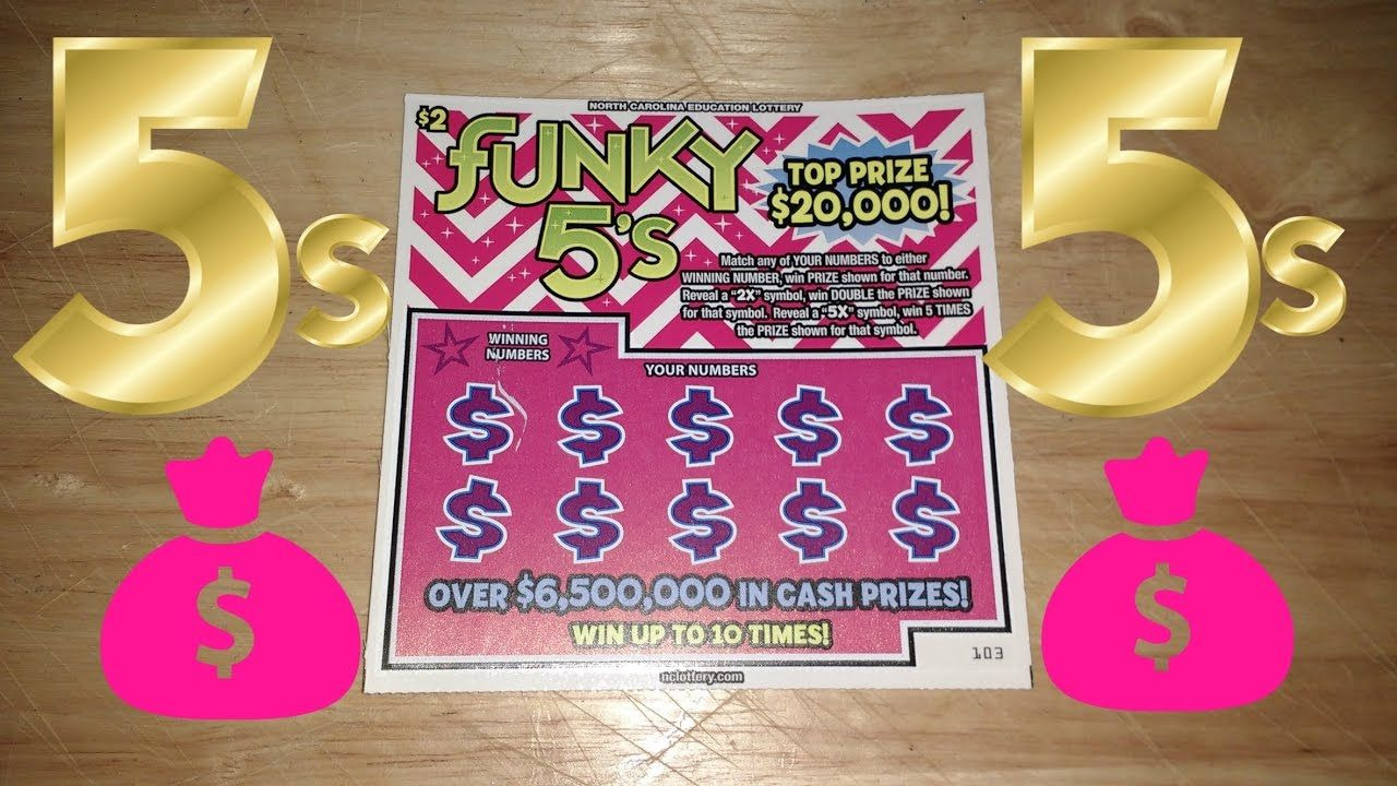 New Funky 5s NC Lottery Ticket $20,000 | Lottery | Lottery tickets