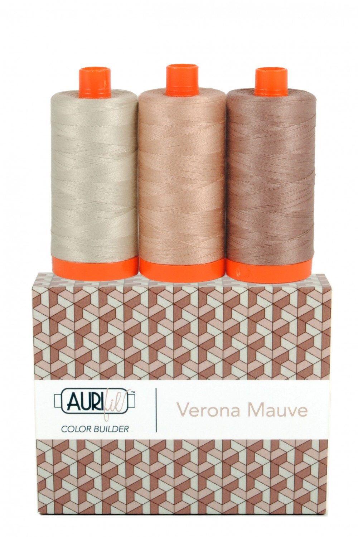 AURIFIL 100/% Cotton Mako 50wt BROWN 3 Spools 2312+6010+2360 1300m each