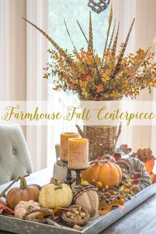 Farmhouse Fall Table Centerpiece Fall Table Centerpieces Rustic Fall Decor Fall Centerpiece