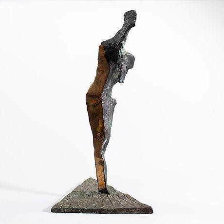 Tapio Junno: Kravattimies, 1992, pronssi, k. 28 cm - Bukowskis F179