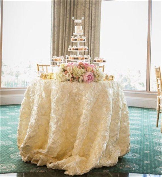 7 Chic Wedding Tablecloth Ideas Styles HANDMADE WEDDING