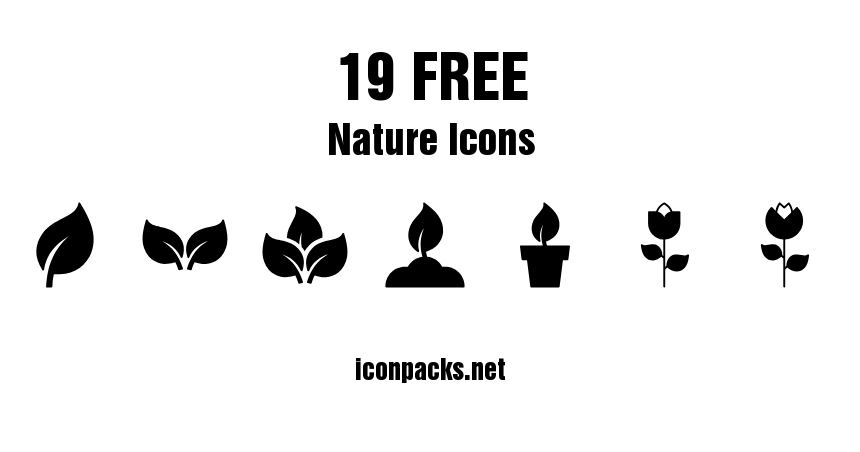 19 Free Nature And Plant Icons Plant Icon Icon Free Icon Packs