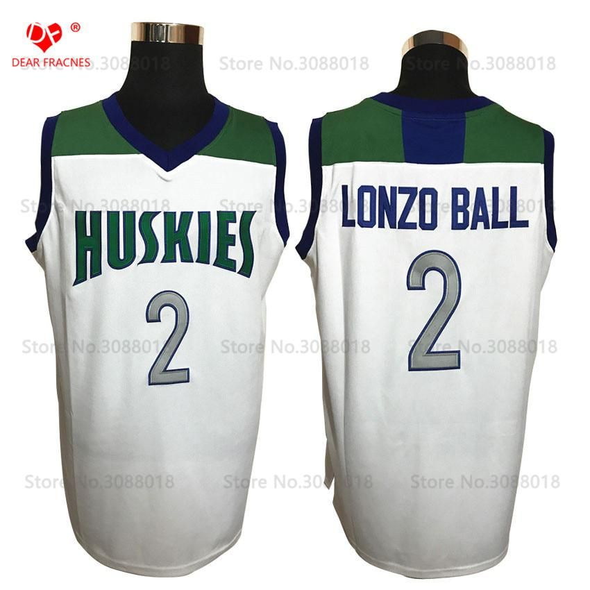 Top Chino Hills Huskies High School  2 Lonzo Ball Jersey Throwback  Basketball Jersey Vintage Retro Basket Shirt For Men Stitched. Yesterday s  price  US ... 830cd667c
