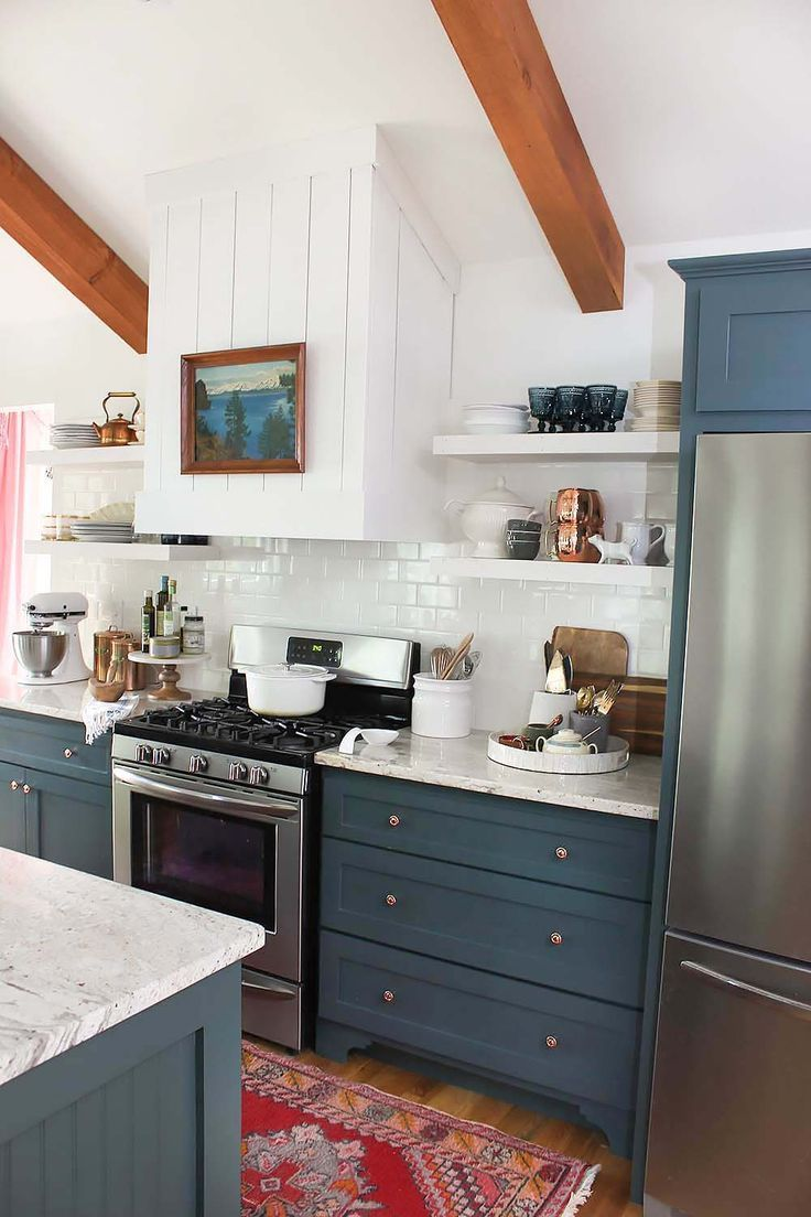 Finally....Our Finished Kitchen | Persian, Kitchens and Teal cabinets