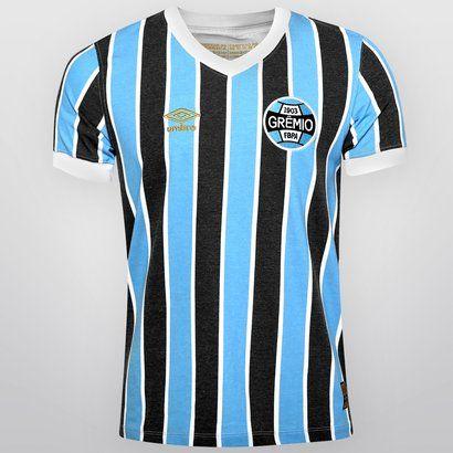 Camisa Umbro Grêmio Retrô 1983 - Azul Claro+Preto  c7d220c7d33a5