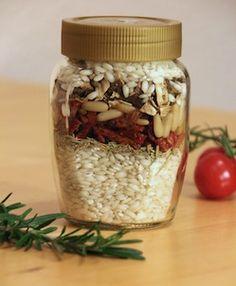 Risotto Zutaten-Mix im Glas selber machen und verschenken